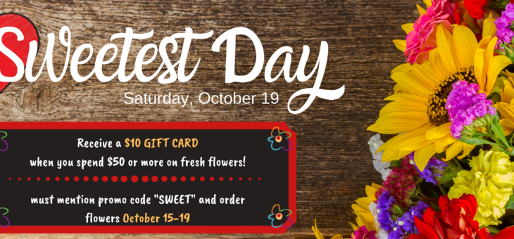 Sweetest Day – Saturday, October 19th
