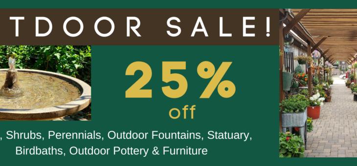 Outdoor Sale!